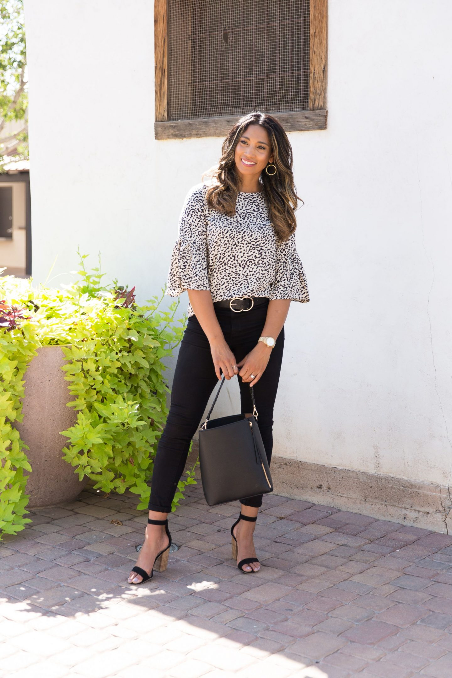 CHEETAH PRINT, WORK BLOUSE, OUTFIT INSPO, CASUAL LOOK, FALL FASHION, FALL LOOK, FALL STYLE, SCOTTSDALE BLOGGER