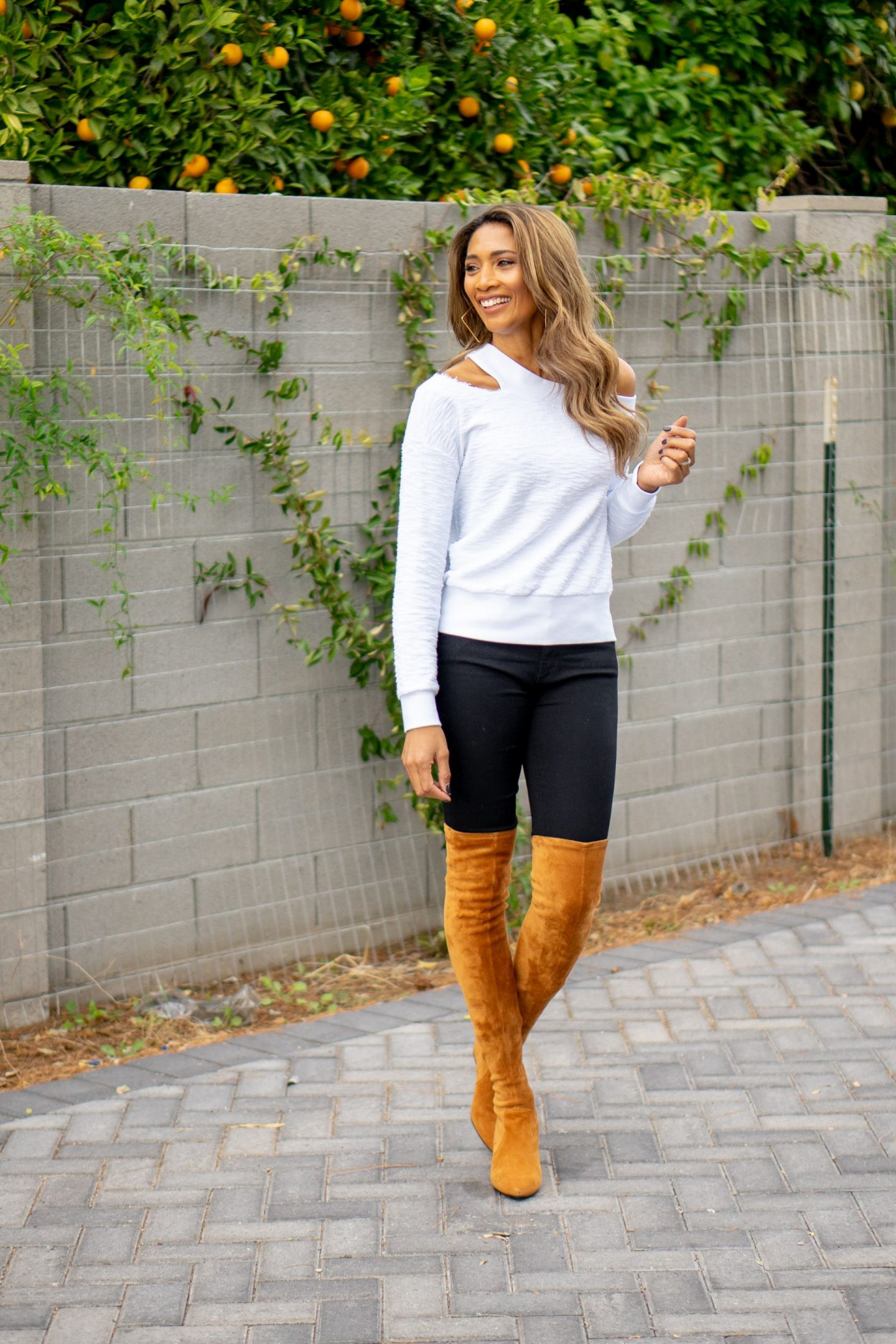Cutout Sweaters and Boots