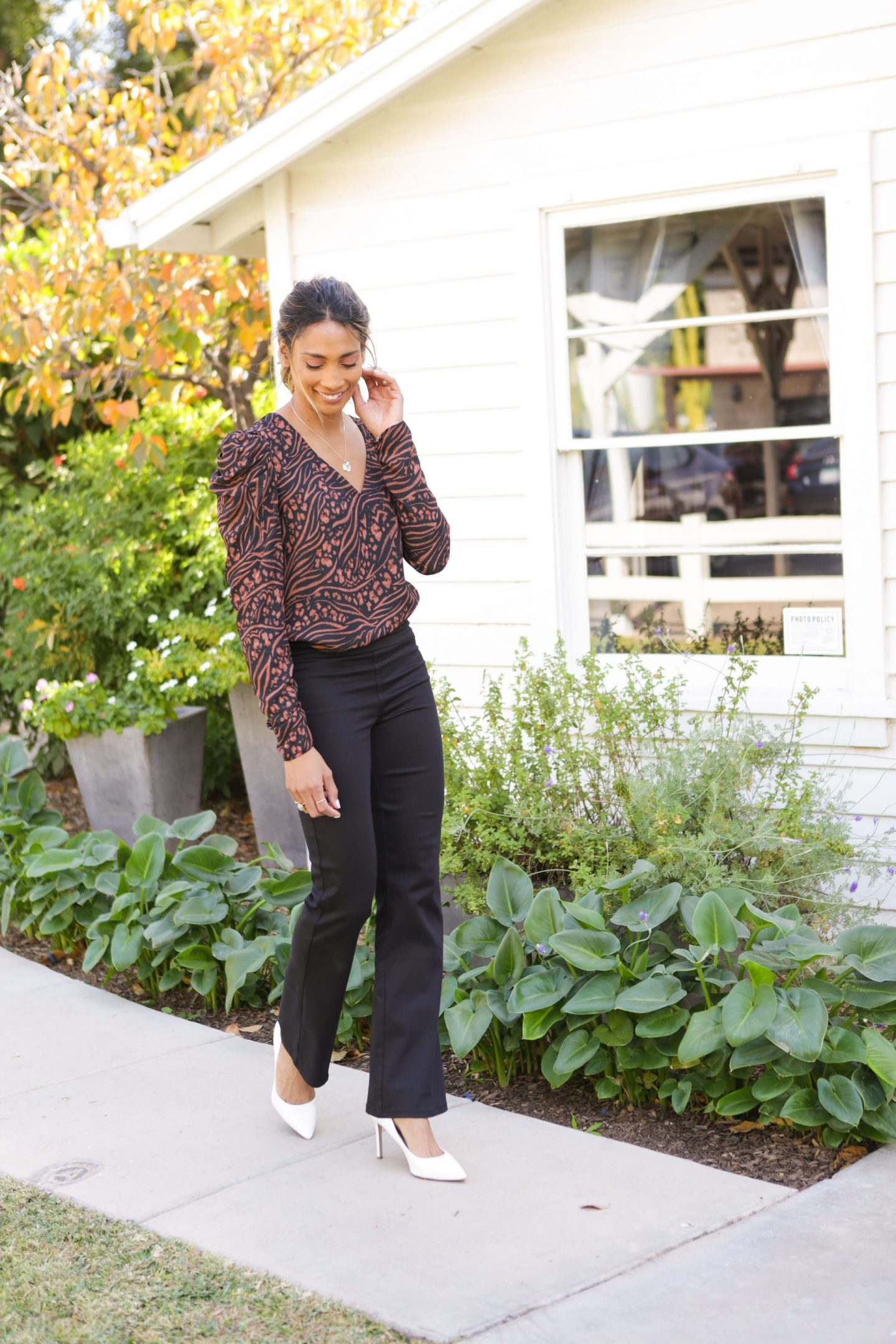 Flared Pants and PUff Sleeved Top