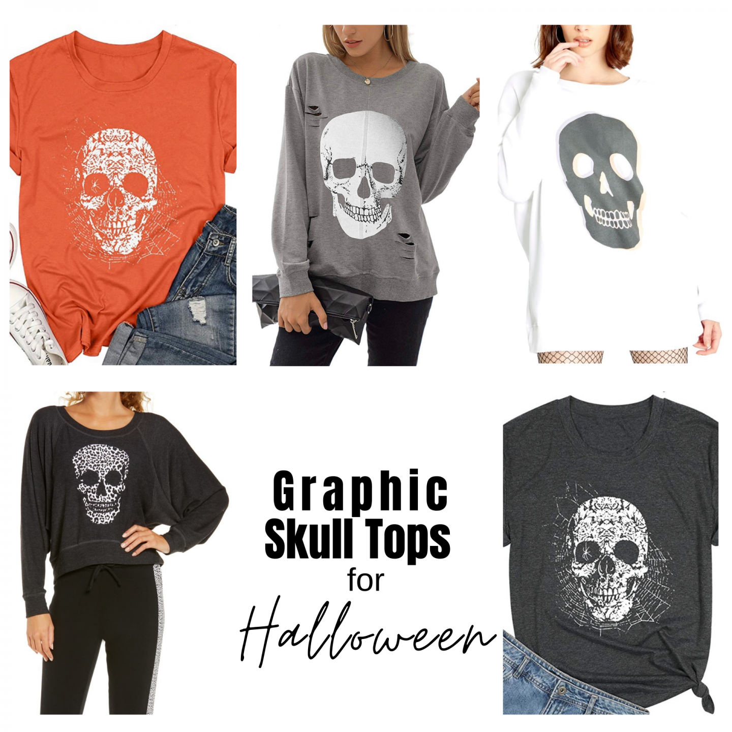 SKULL GRAPHIC TOPS